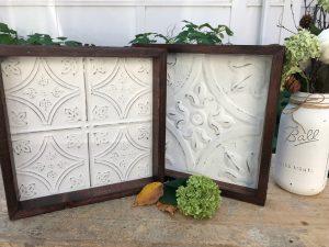 Small Framed Tin - White